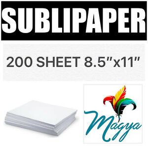 Transfer Paper For Dye Sublimation Inks 200 Sheets 8 5 x11