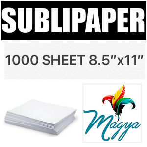 Transfer Paper For Dye Sublimation Inks 1000 Sheets 8 5 x11