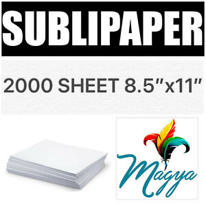 Transfer Paper For Dye Sublimation Inks 2000 Sheets 8 5 x11