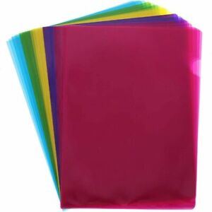 Juvale 30 pack Plastic Document Project Folders Letter Size 5 Colors