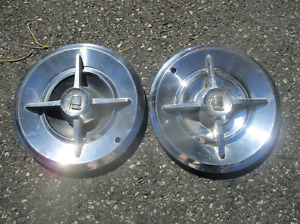 Lot Of 2 Factory 1957 Dodge Royal Lancer 14 Inch Spinner Hubcaps Wheel Covers