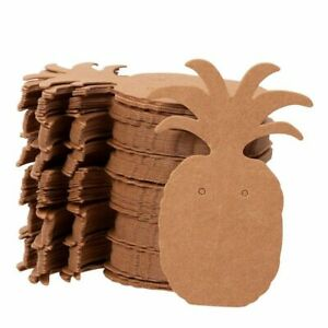 300 pack Earring Card Holder Pineapple Shaped For Ear Studs Brown 1 75 x2 5
