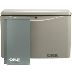 Kohler 14kw Aluminum Standby Generator System 100a Indoor 16 circuit Switch