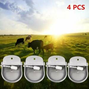 4x 4l Stainless Steel Automatic Water Waterer Stock Livestock Horse Cattle Sheep