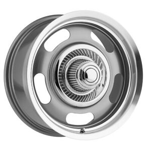 4 Vision 55 Aluminum Rally 17x8 6x5 5 0mm Gunmetal Wheels Rims With Caps