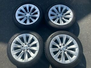 2019 Factory Tesla Model S 19 Wheels Tires Oem Rims 105933700a Michelin