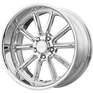 4 18x9 5 Chrome Wheel American Racing Vintage Rodder Vn507 5x4 75 0