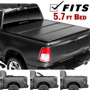 Hard Tri Fold Tonneau Cover Fit 2009 2018 Dodge Ram 1500 Crew Cab 5 7 Short Bed