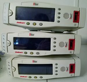 3 Masimo Radical 7 Version 5 Spo2 Pulse Ox Oximeters W rds 1 Docks power Cords