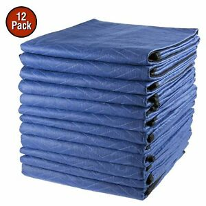12 Moving Blankets 80 X 72 40 Lb dz Shipping Quilted Padding Dual Sided