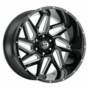 Four 4 20x9 Vision Off Road 361 Spyder Et 12 Black 5x150 Wheels Rims