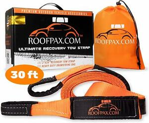 Tow Strap By Roofpax 3 X 30 Ft Off Road Recovery Rope 30 180 Lb