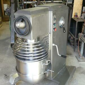 Univex Srm60 Kitchen Mixer Wire Whip New Belt Timer Gear Oil On Casters