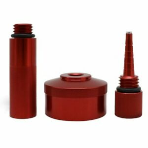 Red Aluminum Extended Run Gas Cap Adapter Mess Free Oil Change Funnel For Honda