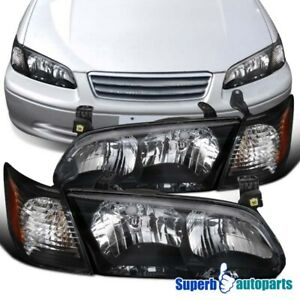 For 2000 2001 Toyota Camry Black Headlights Lamps corner Turn Signal Lights