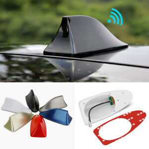 Universal Car Shark Fin Roof Antenna Amplifier Radio Signal Fm am Aerial Cover