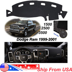 Non Slip Dash Carpet For Dodge Ram 1500 2500 3500 1998 2001 Dashmat Cover Gray