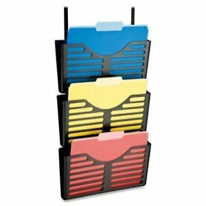 Lorell Plastic Hanging Triple Pocket File Set 80666