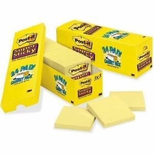 Post it Cabinet Pack Super Sticky Notes 65424sscpc