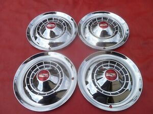 Vintage Nos 1954 Chevy Belair 150 210 15 Hubcaps Wheel Covers