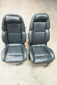 90 96 Nissan 300zx Non Turbo Driver Passenger Side Leather Seats Oem