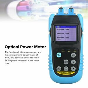 Aua 607p Pon Optical Power Meter Fiber Optic Tester With Sc Upc Connector On