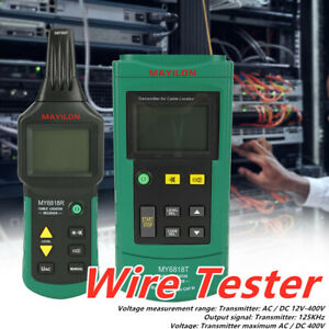 Mastech Ms6818 Wire Tester Networkphone Cable Detector Locator Meter T Racker