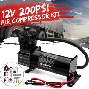 12v 200 Psi 444c Max Horn Air Compressor Kit With Relays Switch Car Truck