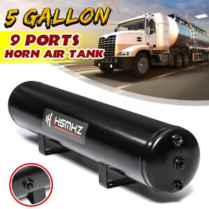 5 Gallon 9 Ports Horn Air Tank 200psi For Suspension Air Ride Bags Train