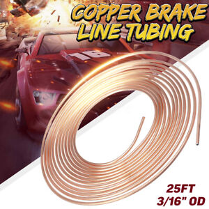 25ft Copper Nickel Brake Pipe Hose Line Piping Tube Coil Roll 3 16 Od
