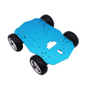 Set Of 1 4wd Chassis Kit Smart Robot Car Model Chassis Frame Unassembled New