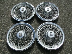 Factory 1982 To 1989 Olds Custom Cruiser 88 Wire Spoke Hubcaps Wheel Covers Set