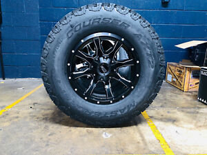 17x9 Moto Metal Black Mo970 33 Axt2 At Wheels Rims Tires 6x5 5 Chevy Silverado