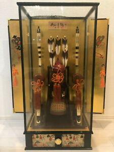 Japanese Traditional Antique Bow And Arrow With Orgel Vintage Pre Owned 84