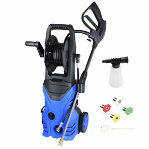 2030psi 1 8gpm Electric Power Pressure Washer 4 Nozzles Detergent Tank Hose Reel