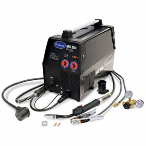 Eastwood Mig 250 Amp Welder 120 240v For Aluminum Steel Flux core Weld