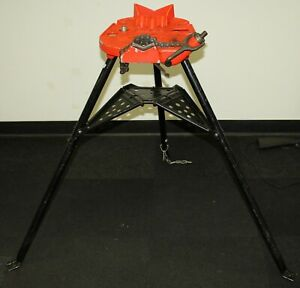 Ridgid Tristand 460 6 1 8 6 Portable Trist And Chain Vise Material Cast Iron