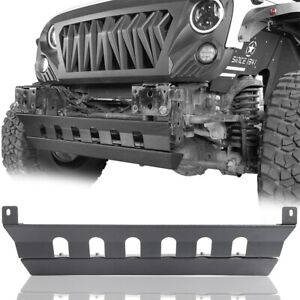 Fit For 07 18 Jeep Wrangler Jk Skid Plate For Front Bumper Texture Black Steel