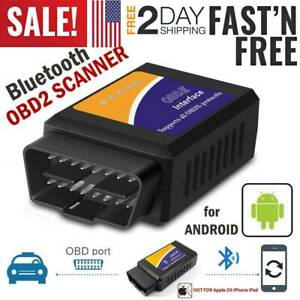 Bluetooth Obd2 Scanner Code Reader Wireless Auto Diagnostic Tool Car Obdii Elm