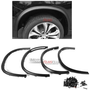 4pcs Black Wheel Fender Flares Cover Trims For Bmw X5 F15 2014 2015 2016