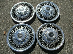 Factory 1979 To 1985 Buick Riviera Wire Spoke Hubcaps Wheel Covers