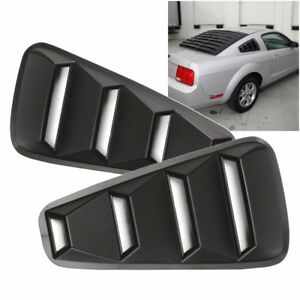 For 2005 14 Ford Mustang 1 4 Quarter Abs Side Window Louvers Scoop Cover