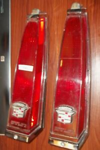 Vintage Cadillac 12 Red Tail Lights P25 2 1979 1985