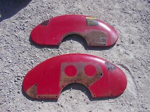 Farmall Super A Sa Tractor Original Ih Pair Set Heavy Clamshell Fender Fenders