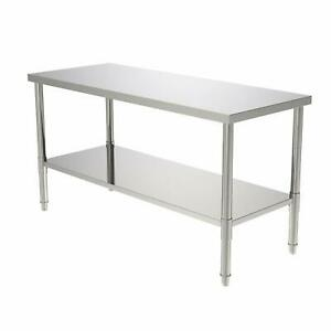 24 x 60 Commercial Stainless Steel Heavy Duty Food Prep Work Table Kitchen