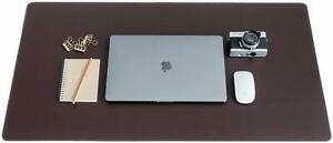 Zbrands Smooth Desk Mat Pad Blotter Protector Brown Leather Extended Laptop