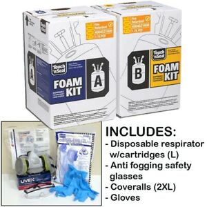 Touch n Seal U2 600 Fr Spray Foam Insulation Kit 600bf W protective Gear large
