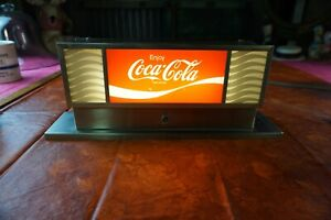 Vintage Light-Up SIGN Coke Coca-Cola Soda Fountain Machine Light or Counter Top
