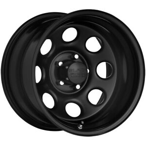 4 black Rock 997b Soft 8 16x7 6x5 5 0mm Black Wheels Rims 16 Inch