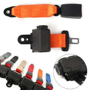 2 Point Retractable Car Seatbelt Extender Buckle Clip Belt Universal For Chevy